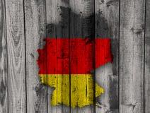 Strukturierte Karte von Deutschland in den netten Farben Lizenzfreie Stockfotos