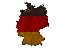 Strukturierte Karte von Deutschland in den netten Farben Stockfotografie