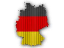Strukturierte Karte von Deutschland in den netten Farben Lizenzfreie Stockbilder