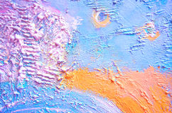 Strukturierte Malerei, abstrakte Malerei Kreativer abstrakter handgemalter Hintergrund Raue Malerei Fragment der Acrylmalerei auf Lizenzfreie Stockfotografie