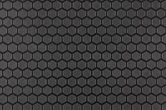 Strukturierte Oberfläche mit einem sechseckigen Muster Stockbild