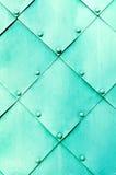 Strukturierte Oberfläche des Metallhellen Türkises Stockfoto