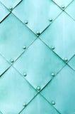 Strukturierte Oberfläche des Metallhellen Türkises Stockfotografie