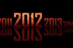 Strukturierte Reihe der Jahre (Thema von 2012 Jahr) Lizenzfreies Stockbild