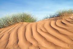 Strukturierte rosafarbene Sanddüne Lizenzfreies Stockbild
