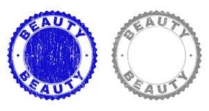 Strukturierte SCHÖNHEIT Schmutz-Stempelsiegel lizenzfreie abbildung