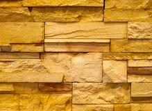 Strukturierte Steinblockwand Stockbild
