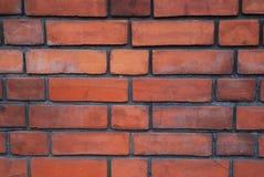 Strukturierte Wand der Ziegelsteine Orange alte SteinBacksteinmauer in London Lizenzfreie Stockfotos