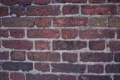 Strukturierte Wand der Ziegelsteine Orange alte SteinBacksteinmauer in London Stockfotografie