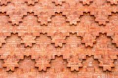 Strukturierte Ziegelsteinarbeit über eine Wand Lizenzfreie Stockbilder