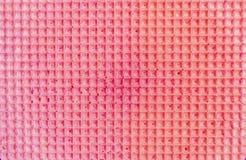 Strukturierter abstrakter Hintergrund Colourfull-Rosawaffel Abschluss oben Flache Lage Stockbild