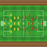 Strukturierter amerikanischer Fußballplatz des Vektorgrases Lizenzfreies Stockbild