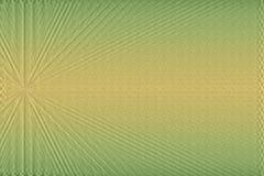 Strukturierter grüner und gelber Hintergrund mit Strahlnmuster Lizenzfreie Stockfotografie