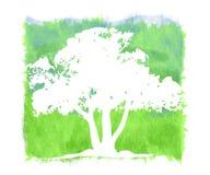 Strukturierter Grunge Baum-Hintergrund lizenzfreie abbildung
