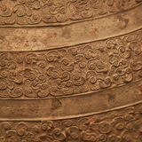Strukturierter Hintergrund der alten chinesischen Bronze Lizenzfreies Stockbild