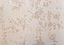 Strukturierter Hintergrund der beige rauen Wand Abstact-Stuck Beschaffenheit des Gipses auf der Wand Lizenzfreie Stockfotos