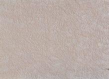 Strukturierter Hintergrund der beige rauen Wand Abstact-Stuck Beschaffenheit des Gipses auf der Wand Lizenzfreies Stockfoto