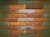 Strukturierter Hintergrund der bunten Backsteinmauer Stockfotografie