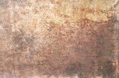 Strukturierter Hintergrund der metallischen Bronze lizenzfreies stockfoto