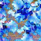 Strukturierter Hintergrund des abstrakten Aquarells Hölzernes strukturiertes, schäbig Lizenzfreie Stockfotografie