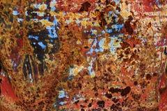 Strukturierter Hintergrund des alten Metalleisen-Rosts Lizenzfreies Stockbild