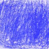 Strukturierter Hintergrund des blauen Zeichenstiftgekritzels Stockbilder