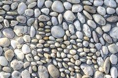 Strukturierter Hintergrund des Flussfelsens Lizenzfreie Stockfotografie