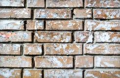Strukturierter Hintergrund des Schmutzes der Backsteinmauer Stockbilder
