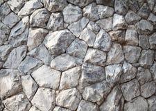 Strukturierter Hintergrund des weißen Felsenwand-Musters Lizenzfreie Stockfotos