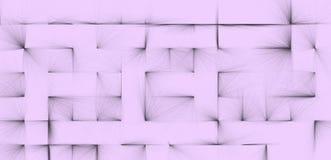 Strukturierter Hintergrund von abstrakten schwarzen Linien auf einem blassen lila Hintergrund Lizenzfreie Stockbilder