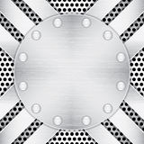 Strukturierter metallischer Hintergrund Lizenzfreies Stockbild