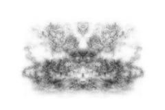 Strukturierter Rauch, abstraktes Schwarzes, Wolke lokalisiert auf whvite Hintergrund Lizenzfreie Stockfotografie