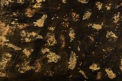 Strukturierter Schwarzer und Goldhintergrund lizenzfreies stockbild