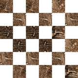 Strukturiertes abstraktes kariertes nahtloses Muster des Schmutzes Stockbild