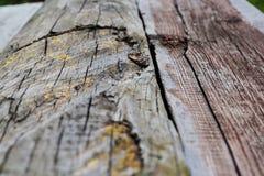 Strukturiertes altes hölzernes Brett für einen Hintergrund zurückziehend in den Abstand stockfotografie
