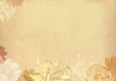 strukturiertes altes Papier der Blume Lizenzfreie Stockfotos