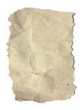 Strukturiertes aufbereitetes Papier auf weißem Hintergrund Stockbild
