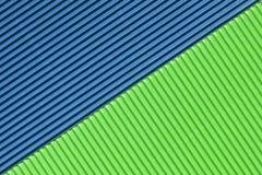 Strukturiertes buntes Blau und grüne Wellpappe lizenzfreie stockbilder