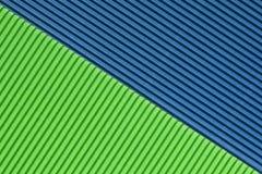 Strukturiertes buntes Blau und grüne Wellpappe lizenzfreies stockbild