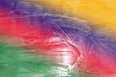 Strukturiertes Eis des gefrorenen Teichs Lizenzfreie Stockfotografie