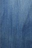 Strukturiertes gestreiftes Blue Jeansleinengewebe Stockbild