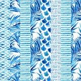 Strukturiertes gestreiftes nahtloses Muster des Aquarells vektor abbildung