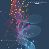 Strukturmolekül und -kommunikation DNA, Atom, Neuronen Wissenschaftliches Konzept für Ihr Design Verbundene Linien mit Punkten lizenzfreie abbildung