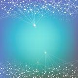 Strukturmolekül und -kommunikation DNA, Atom, Neuronen Wissenschaftliches Konzept für Ihr Design Verbundene Linien mit Punkten vektor abbildung