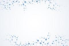 Strukturmolekyl och kommunikation Dna atom, neurons Vetenskapligt begrepp för din design Förbindelselinjer med prickar Royaltyfri Foto