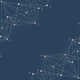 Strukturmolekyl och kommunikation Dna atom, neurons Vetenskapligt begrepp för din design Förbindelselinjer med prickar Royaltyfri Bild