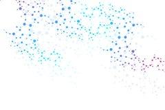 Struktury komunikacja i molekuła Dna, atom, neurony Naukowy pojęcie dla twój projekta Związane linie z kropkami Zdjęcia Royalty Free