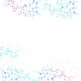 Struktury komunikacja i molekuła Dna, atom, neurony Naukowy pojęcie dla twój projekta Związane linie z kropkami Obrazy Stock