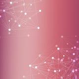 Struktury komunikacja i molekuła Dna, atom, neurony Naukowy pojęcie dla twój projekta Związane linie z kropkami Zdjęcie Stock