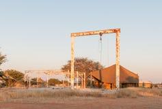 Struktury stary słonia abattoir w Olifantsrus Spoczynkowym obozie Obraz Royalty Free